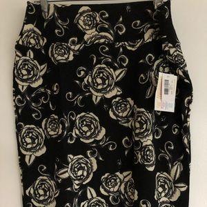 NWT LulaRoe Cassie Pencil Skirt 2XL Floral